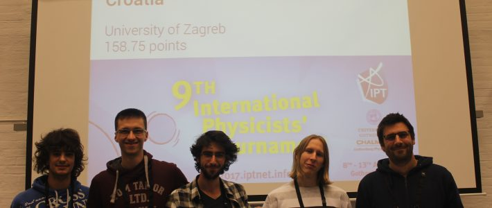 Croatia in the International Physicists' Tournament!
